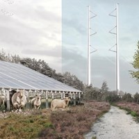 Zonne-energie in het landschap. Foto: Wageningen University