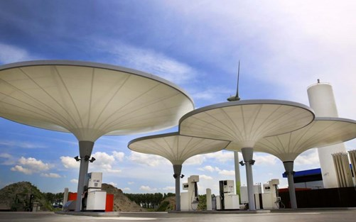 Green hydrogen fuel stations