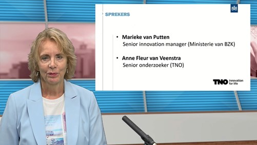 Government expert Marieke van Putten, during the AI webinar 'AI's role in government decision-making'.