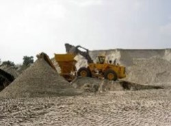 Sand extraction combined with a building project