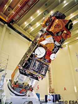 Integration of the ENVISAT satellite at ESTEC