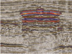 Seismic view of shallow gas accumulation