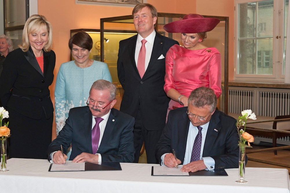 TNO and Fraunhofer sign MOU on Industrie 4.0 and Smart Industry (April 13, 2016) (Copyright: Deutsches Museum)